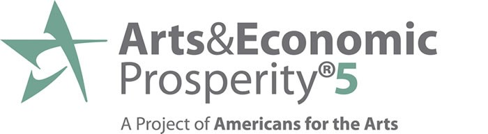 The logo for the Arts and Economic Prosperity 5 project
