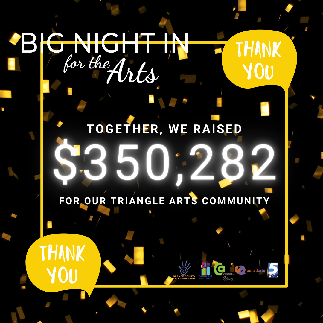 Big Night In for The Arts - Thank YOU!
