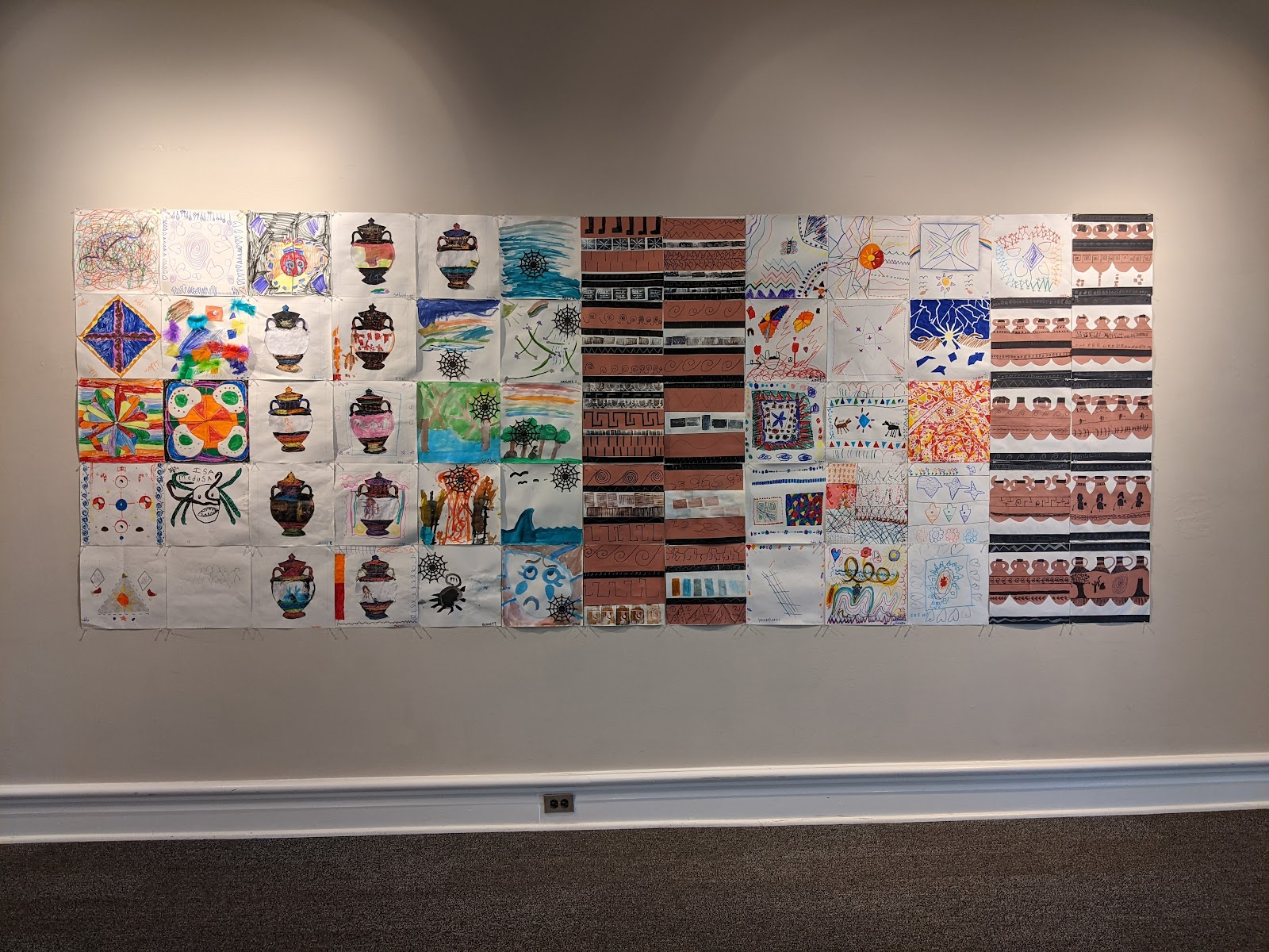 mural created from individual squares
