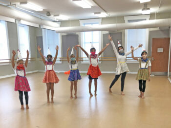 youth dancers in costumes